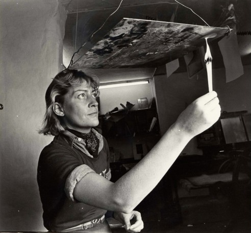 Preparing Plate for acid, 1977<br><span>Photograph by Pat Langan</span>