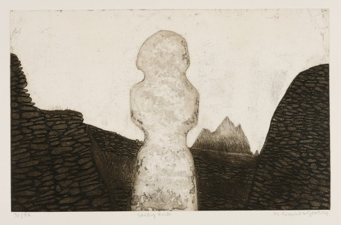 Skellig Rock<br><span>2007, 36 x 58cm, Etching ed. 85</span>