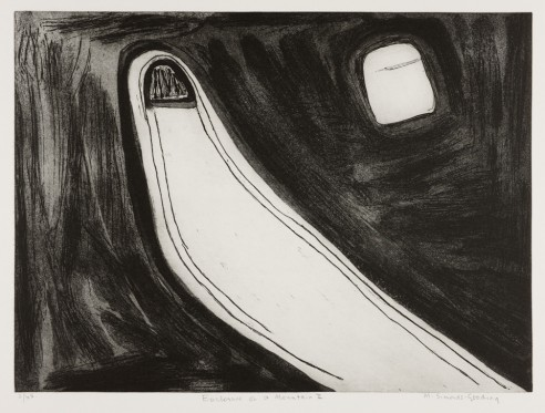 Enclosure on a Mountain II<br><span>1989, 47 x 65cm, Etching ed 45</span>