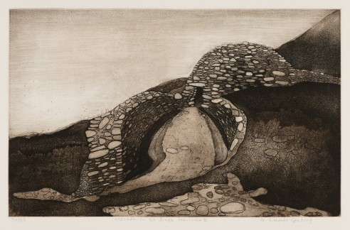 Clochán on the Dingle Peninsula II<br><span>1976, 34x55cm, Etching ed 65</span>