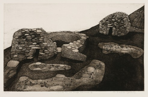 Clochán on the Dingle Peninsula III<br><span>1976, 34x55cm, Etching ed 65</span>