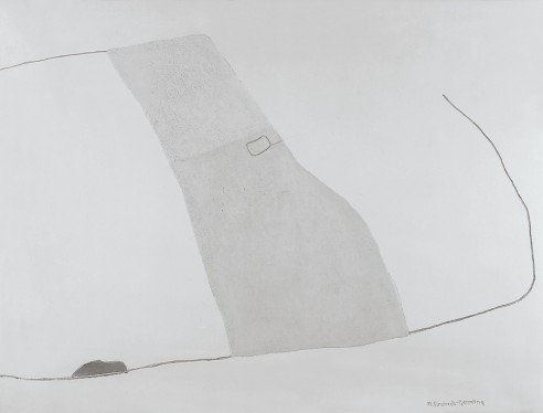 A Place Of Habitation V<br><span>1995, 114 x 152cm, Crushed clay on plaster</span>