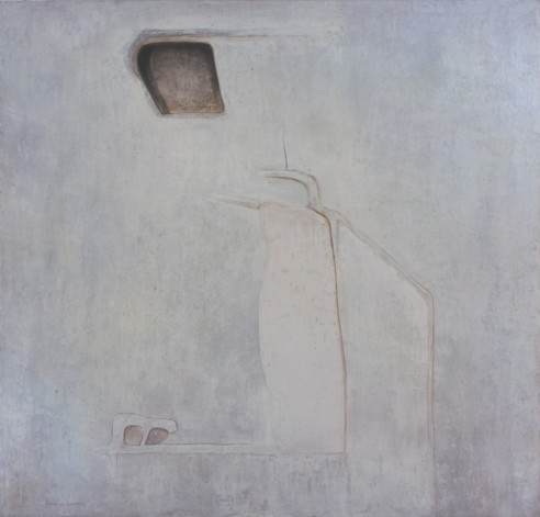 Cultivation IV<br><span>1972, 152 x 140cm, Fresco pigment on plaster</span>