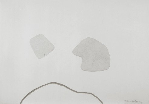 Sprung-Up Field by the Water Hole I<br><span>1997, 83 x118 cm, Crushed clay on plaster</span>