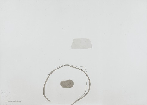 Sprung-Up Field by the Water Hole<br><span>1998, 117x160 cm, Crushed clay on plaster</span>