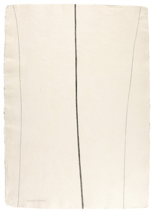Transcending Boundaries<br><span>2005, 134 x 95 cm, Graphite on handmade paper</span>