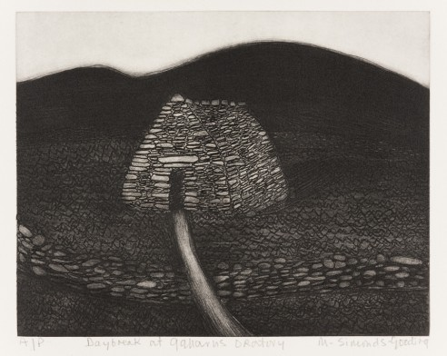 Daybreak at Gallarus Oratory<br><span>1999, 23 x 29cm, Etching ed 150</span>